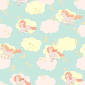 unicorns and clouds mint