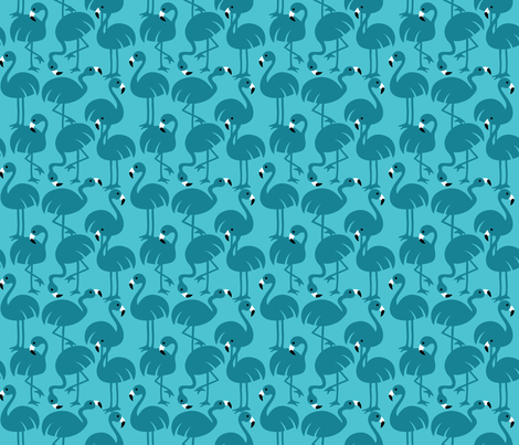 Gamme_Flamingos-05 fabric by leventetladiscorde on Spoonflower - custom fabric