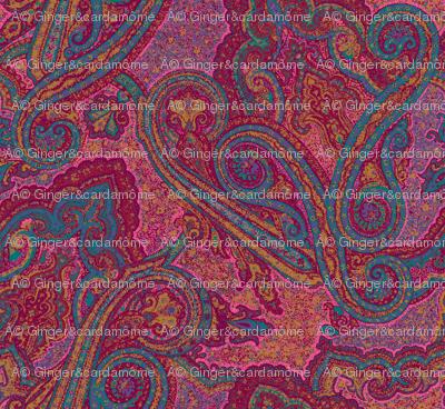 pointillism_paisley boho multicolor