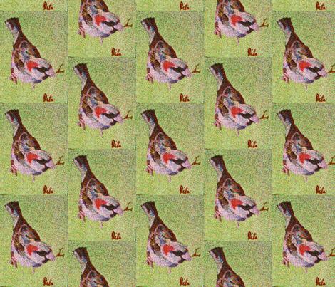 sparrow fabric by art_by_rita on Spoonflower - custom fabric