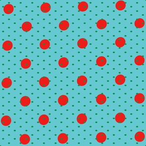 Red and Blue Polka Party