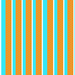 I Love Stripes! - In Blue and Orange