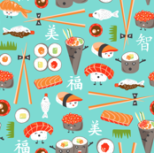 Happy Sushi - Kawaii