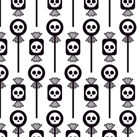 Skull Candy - White fabric by siya on Spoonflower - custom fabric