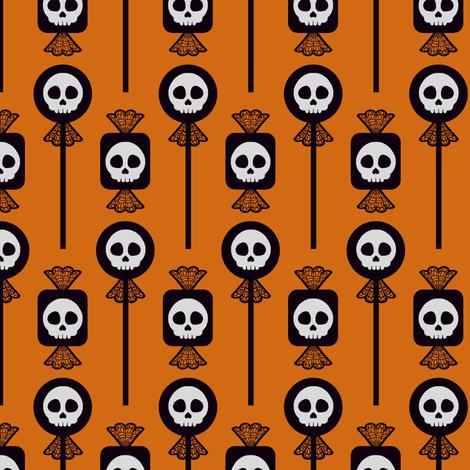 Skull Candy - Pumpkin fabric by siya on Spoonflower - custom fabric