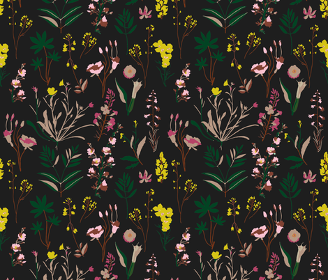 WILDFLOWER_STUDY_DARK fabric by holli_zollinger on Spoonflower - custom fabric