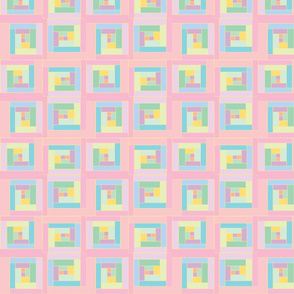 Pink  Plaid Cute Squares