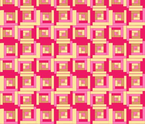 #SAGE Tea Pink  Log Cabin fabric by palusalu on Spoonflower - custom fabric