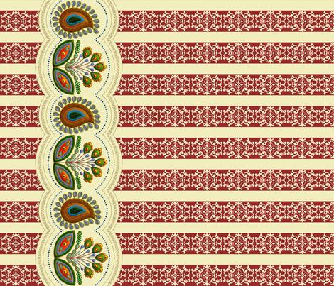 2016_01_Flower_Border_new_36x60_vB1_sm fabric by stradling_designs on Spoonflower - custom fabric