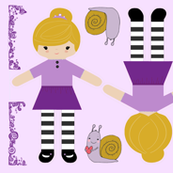 Sally & Snail cut and sew doll