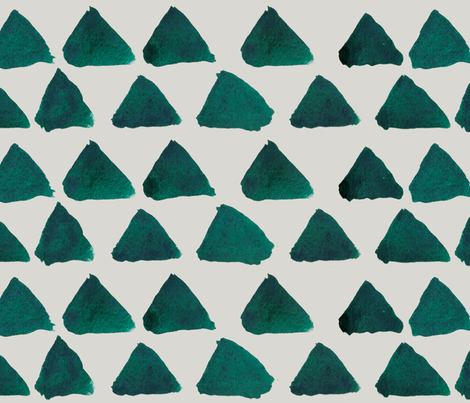TINYTriangles_Teal fabric by hannah_beisang on Spoonflower - custom fabric