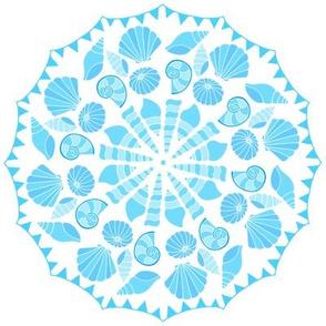 Sea Dream - Aquamarine - Shell and Bunting Circle