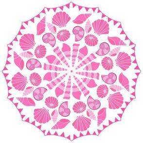 Sea Dream - Pinkmarine - Shell and Bunting Circle