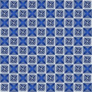 Simple Tapa - Blue-Whte