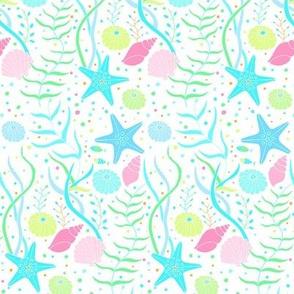 Sea Dream - Aquamarine - Sea Weed and Shells