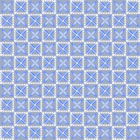 Simple Tapa - Sky-White fabric by chinaberries_studio on Spoonflower - custom fabric