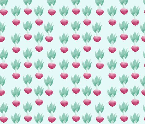 radish light blue fabric by meissa on Spoonflower - custom fabric