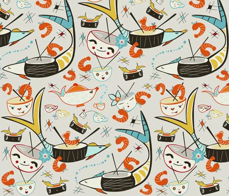 Sushi Sushi I Love Sushi sewindigo fabric by sewindigo on Spoonflower - custom fabric