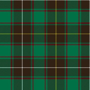 """MacPhee / MacFie / MacFee hunting tartan, 6"""" antique"""