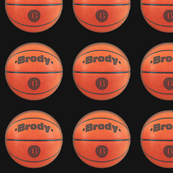 custom order - personalized basketballs - Brody