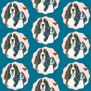 English springer spaniel dog portrait