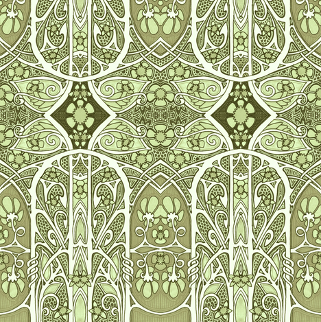 Lacy Green Spring Thing fabric by edsel2084 on Spoonflower - custom fabric