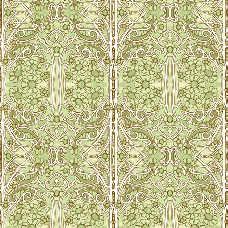 Rococo Meadow fabric by edsel2084 on Spoonflower - custom fabric