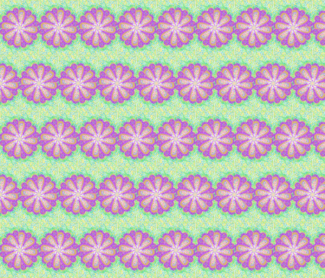 Petal-Powered Pointillism fabric by rhondadesigns on Spoonflower - custom fabric