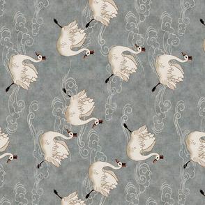 Valentine Swans (pewter) RAILROAD