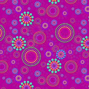 Dotted Circles Magenta