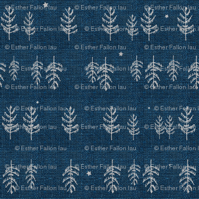 Arctic Night Forest (navy)