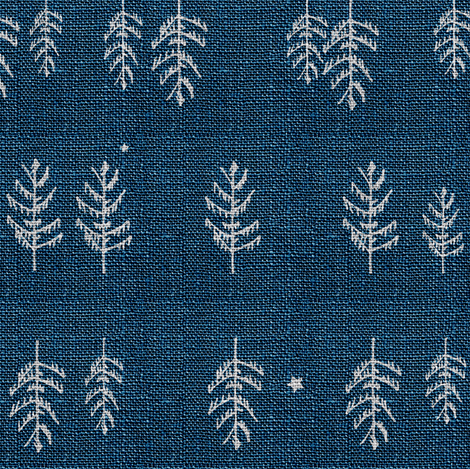 Arctic Night Forest (navy) fabric by nouveau_bohemian on Spoonflower - custom fabric