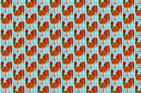 Rusty Rooster fabric by gannpeeler on Spoonflower - custom fabric