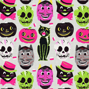 retro halloween on pink