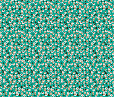 Love Coffee fabric by thickblackoutline on Spoonflower - custom fabric