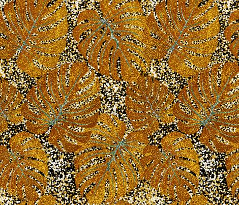 Pointalism_huge_leaves fabric by house_of_heasman on Spoonflower - custom fabric