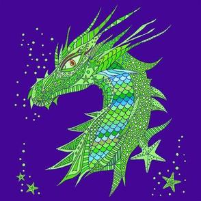 Sea Dream - Ultramarine - Sea Dragon Green
