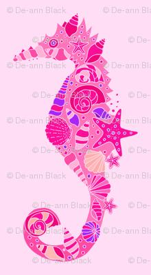Sea Dream - Pinkmarine - Seahorses Pink