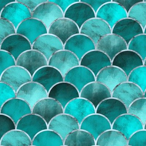 Abstract Waves (Turquoise)