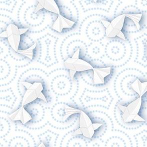 Origami Koi Fishes (Porcelain Version)