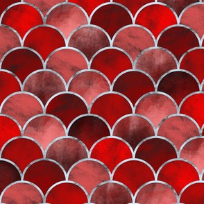 Abstract Waves (Red)
