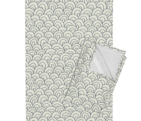 hills - ivory and navy