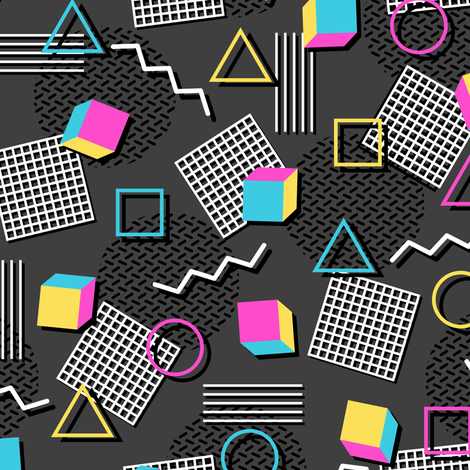Welcome to the 90s (Small) fabric by robyriker on Spoonflower - custom fabric