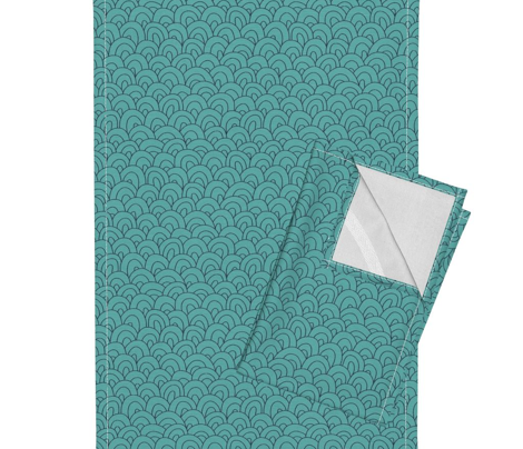 hills - teal and navy