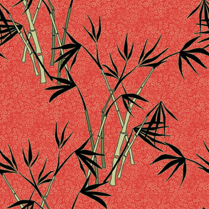 bamboo - red and black
