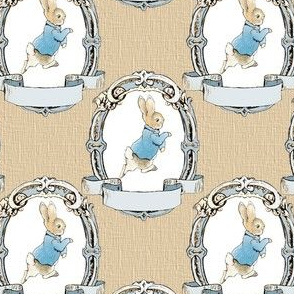 Peter Rabbit in Blue Shabby chic frame