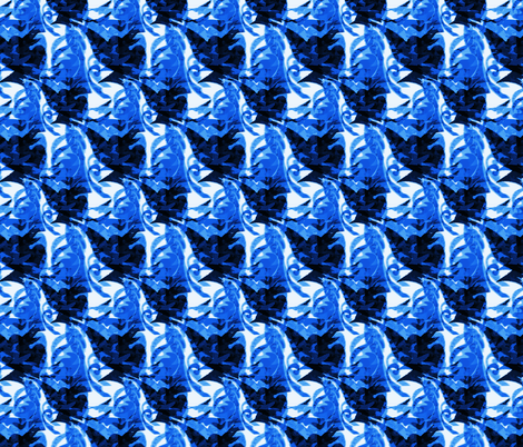 Blue and white Trinidad Tropical Print fabric by barbarapritchard on Spoonflower - custom fabric