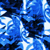 Blue and white Trinidad Tropical Print