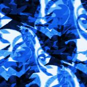 Blue and white Trinidad Tropical Print