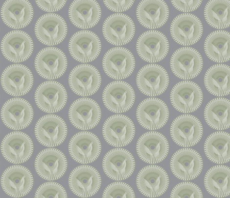 Eagle Medallion Swatch fabric by house_of_rouse on Spoonflower - custom fabric